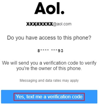 yes, text me a verification code